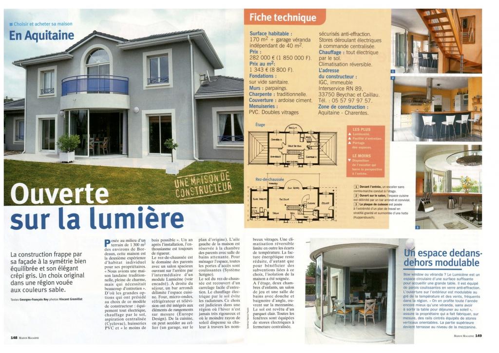 Maison igc bois maison alba plan de maison f2 en for Plan maison igc