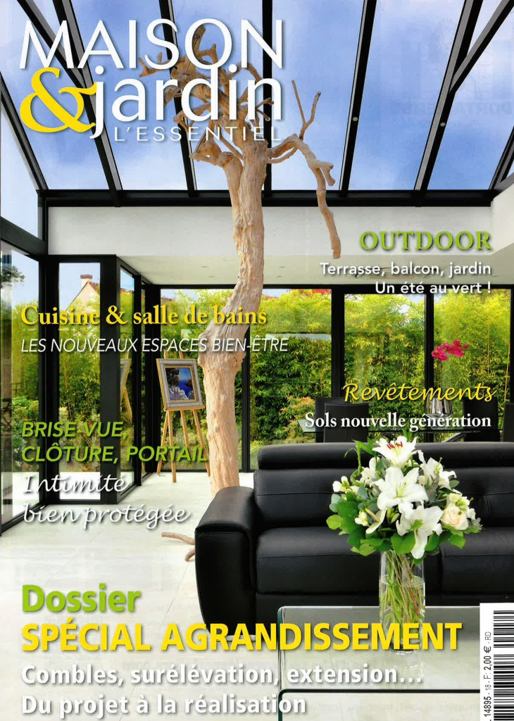 maison et jardin magazine anne couverture du magazine maison et jardin un jardin color dans. Black Bedroom Furniture Sets. Home Design Ideas