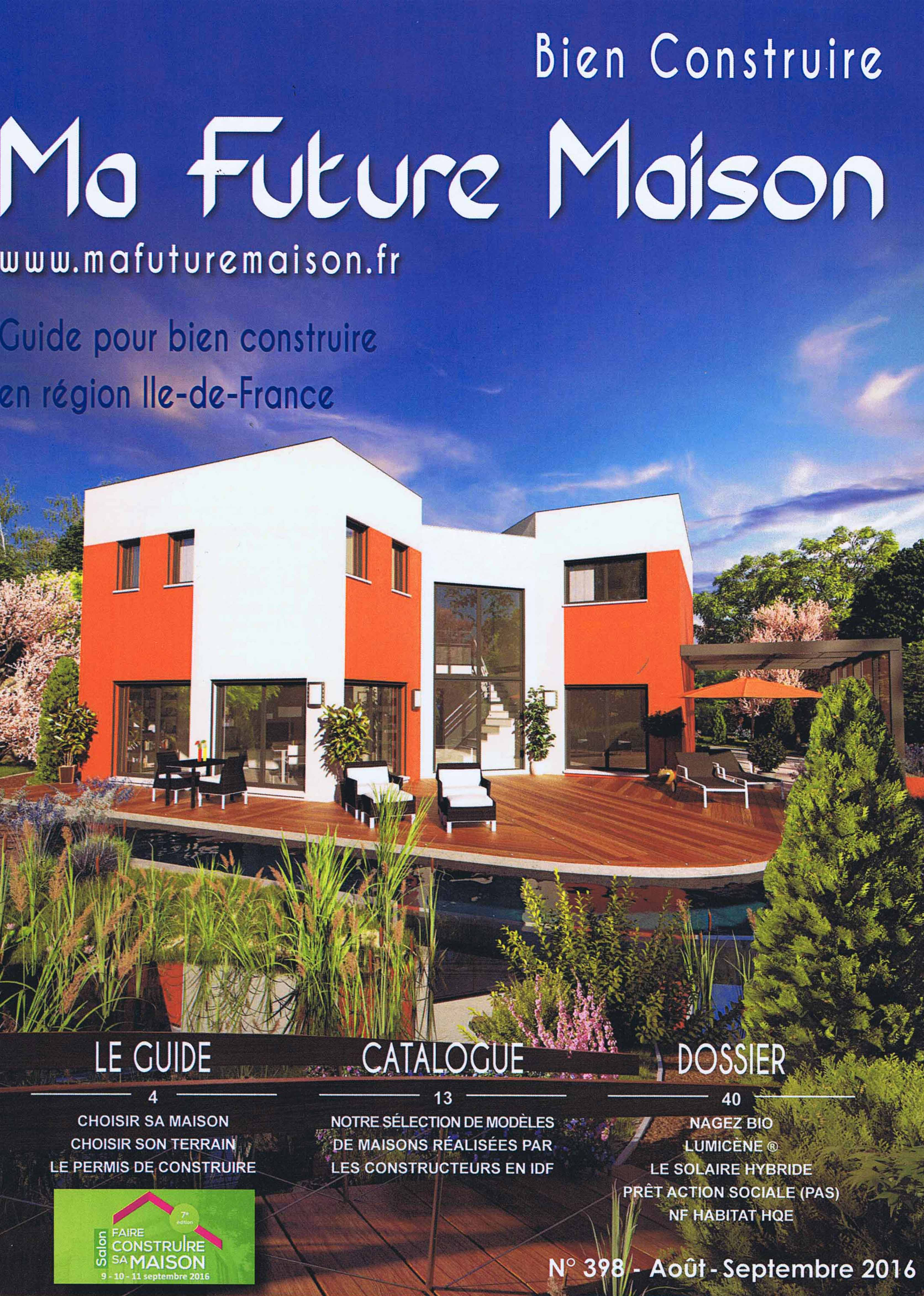 Catalogue par maison lumicene is mentioned in the press for Construire online