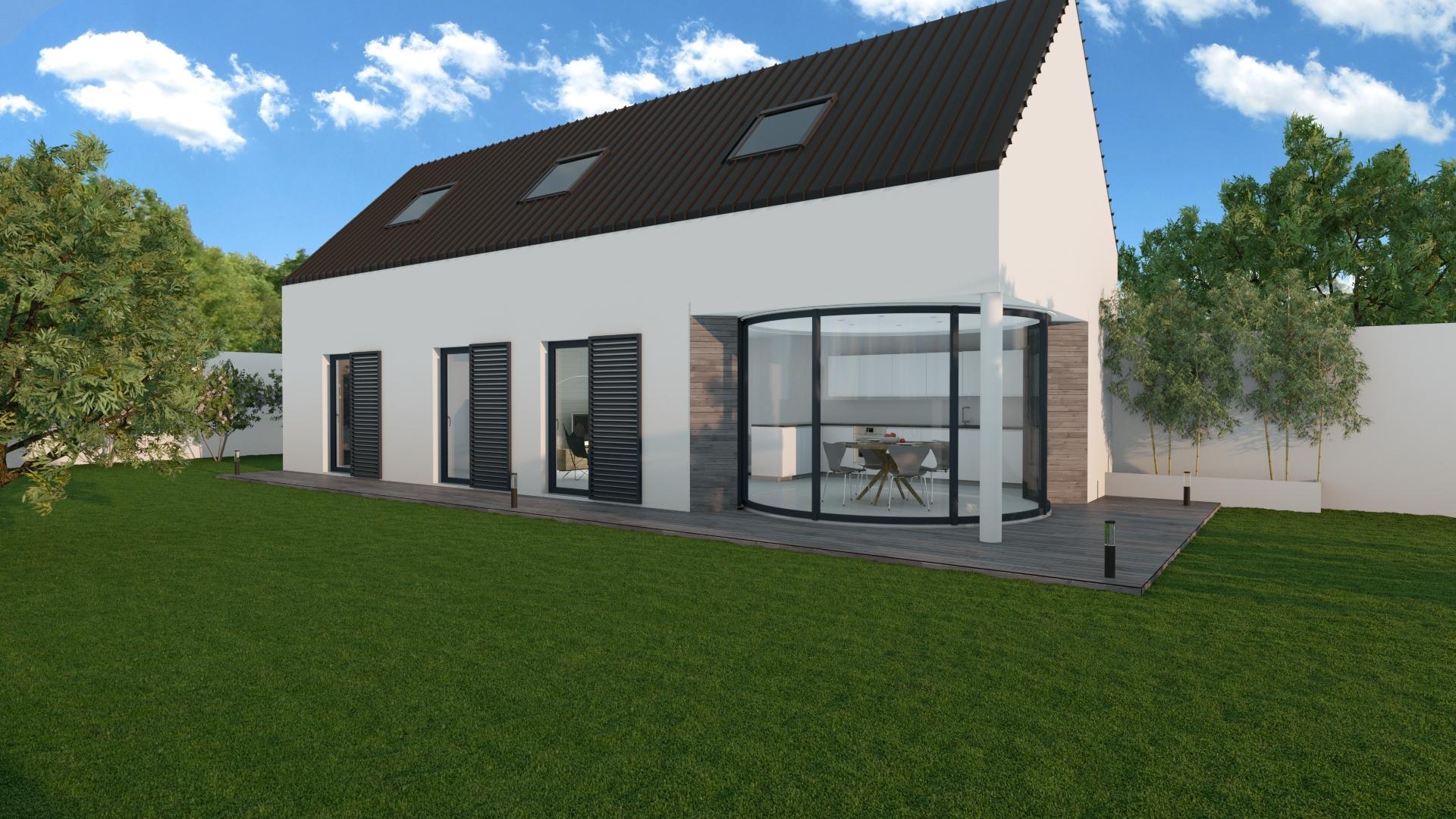 Mod les de maisons lumicene for Modele de facade de maison